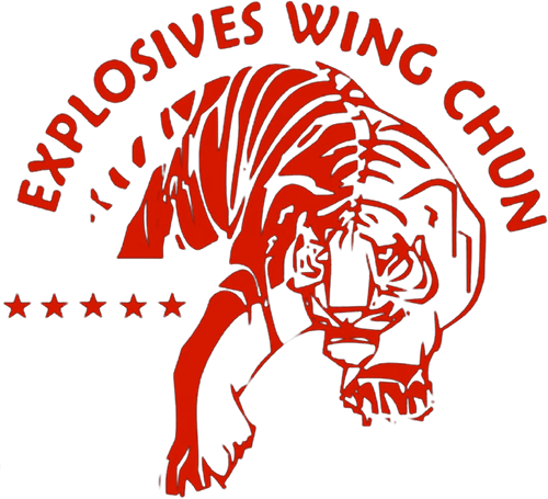 Explosives Wing Chun logo red tiger